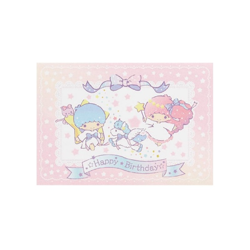 Little Twin Stars Birthday Card 300Jpcr 7 5