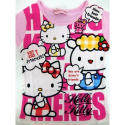 Hello Kitty French Sleeve T-Shirt P 100 Friends