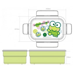 Keroppi Lunch Container Dot