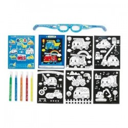 The Round About 3D Coloring Book Set