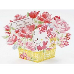 Hello Kitty Greeting Card: 3D Flower