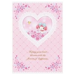 My Melody Greeting Card: Flowers of Happiness