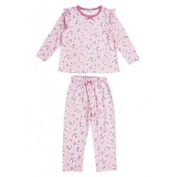 Hello Kitty Long Sleeve Pajamas: Pink 120