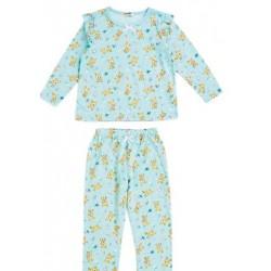 Hummingmint Long Sleeve Pajamas: Green 110