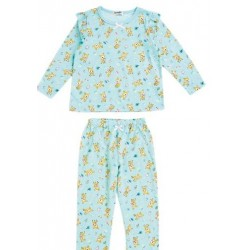 Hummingmint Long Sleeve Pajamas: Green 130