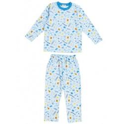 Shinkaizoku Long Sleeve Pajamas: Blue 140