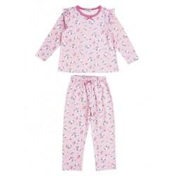 Hello Kitty Long Sleeve Pajamas: Pink 100
