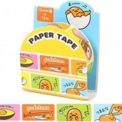 Gudetama Paper Tape:15 Colorful