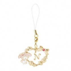 My Melody Cellphone Charm: Initial N