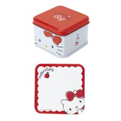 Hello Kitty Memo Pad In Metal Case