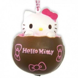 Hello Kitty Squishy Mascot Chocolate Pink