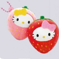 Hello Kitty Squishy Mascot Twin Strawberry