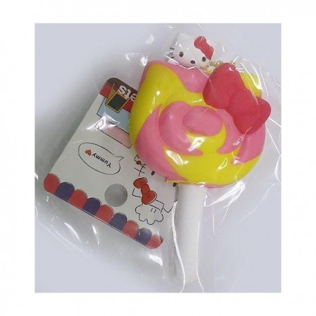 Hello Kitty Squishy Mascot Candy Ribbon Pink