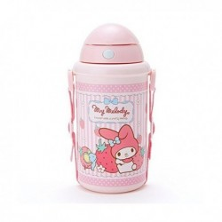 My Melody Pop Up Canteen Straw Water Bottle : Strawberry