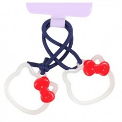 Hello Kitty Ponytail Holder: Frame Red