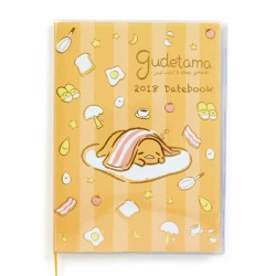 Gudetama Schedule Notebook: A5 2018