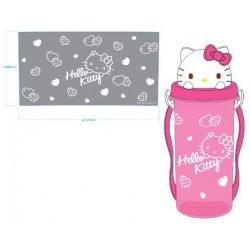 Hello Kitty Water Bottle Dc Cap Pink Heart
