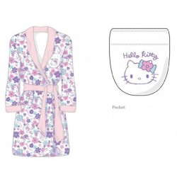 Hello Kitty Junior High Bathrobe Flower