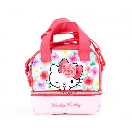 Hello Kitty Lunch Handbag: Floral