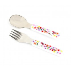 Hello Kitty Fork & Spoon Set: Floral