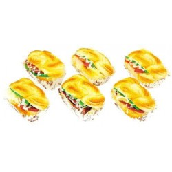Assorted Squishy Toy Sandwich Shape