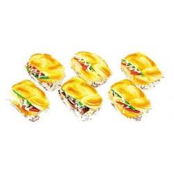 Assorted Squishy Toy Sandwich C Shape