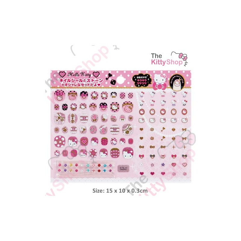 Hello Kitty Kids Nail Art Set: Stone Rose - The Kitty Shop