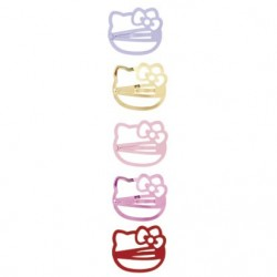 Hello Kitty Hair Clips: Pink Face