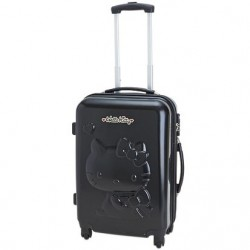 Hello Kitty Rolling Suitcase/luggage : Medium Black