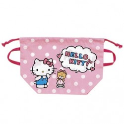 Hello Kitty Lunch Drawstring Bag: Dot