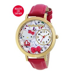 Hello Kitty Analog Watch Ribbon Red