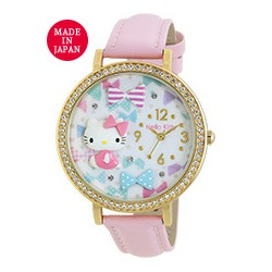 Hello Kitty Analog Watch Bow Pink