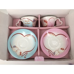 Hello Kitty Cup & Saucer Set Rose With Dear Daniel