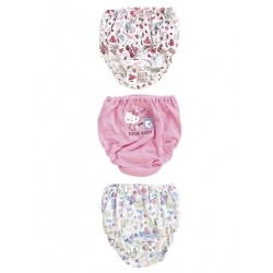 Hello Kitty 3 Pk Panties: 110 School