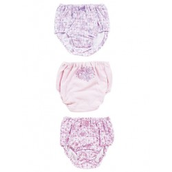 Bonbonribbon 3 Pk Panties: 120 Check