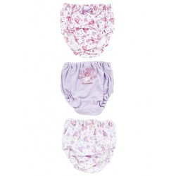 Bonbonribbon 3 Pk Panties: 120 Dot