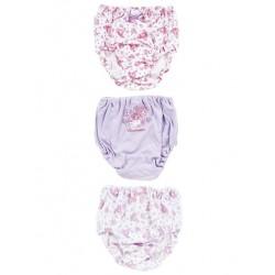 Bonbonribbon 3 Pk Panties: 120 Dot