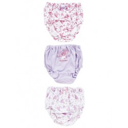Bonbonribbon 3 Pk Panties: 110 Dot