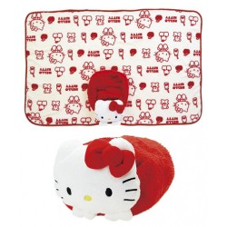 Hello Kitty Blanket & Case: Soft