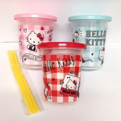 Hello Kitty 3Pcs Cup Set with Straw