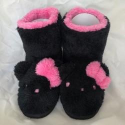 Hello Kitty Mouton Boots Ladies Large Black