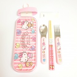 Hello Kitty Lunch Trio with Belt: Heart