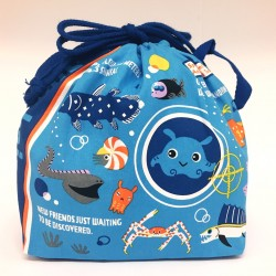 Shinkaizoku Lunch Drawstring Bag: Frnds