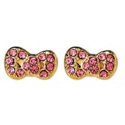 POST EARRINGS: PAVE KT