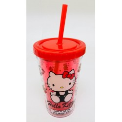 Hello Kitty Plastic Cup W/Straw: