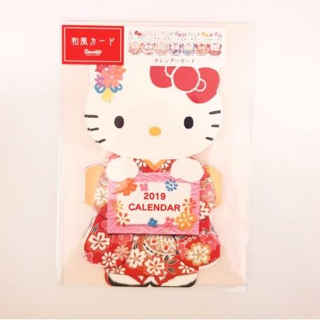 Hello Kitty Japanesque Calendar Card: Jxj 16-8