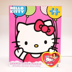 Hello Kitty Shaped Floor Puzzle-50pc