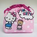 Hello Kitty Lunch Drawstring Bag: Dot