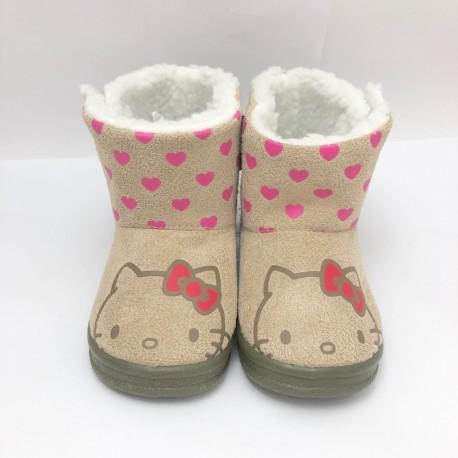 Hello Kitty Kids Boots 14cm Beige