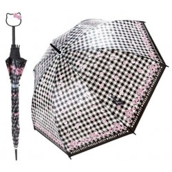 Hello Kitty D-Handle Umbrella: 55cm Cherry